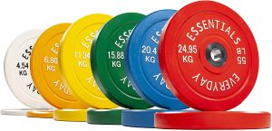 BalanceFrom Color Coded Olympic Bumper Plates