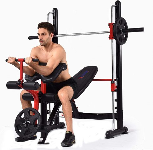 Mim USA Compact Smith Machine and Squat Rack