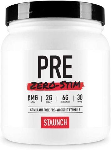 Staunch Pre Zero-Stim Pre-Workout Powder