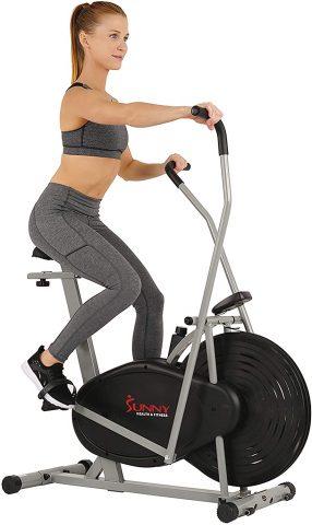 Sunny Health & Fitness Air Bike - Air Hybrid